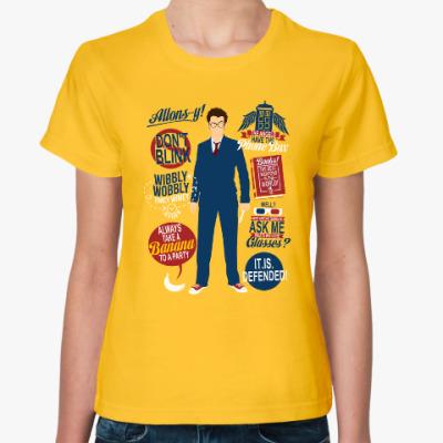 Женская футболка David Tennant- doctor