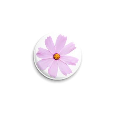 Значок 25мм Цветок космеи (Cosmos Cav.)