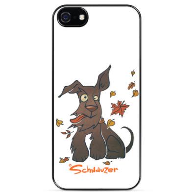 Чехол для iPhone Осенний шнауцер