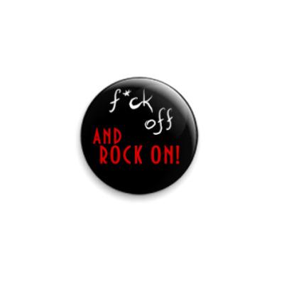 "Значок 25мм  ""Rock On!"""