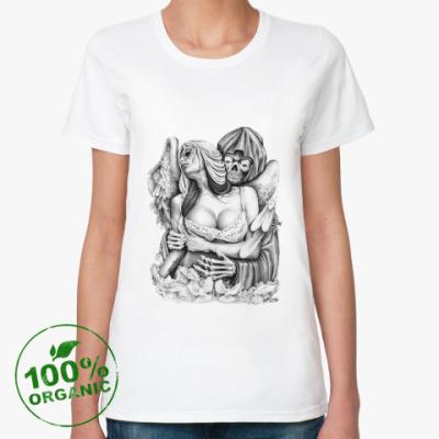 Женская футболка из органик-хлопка Reaper Embrace