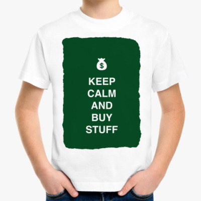 Детская футболка Keep calm and buy stuff