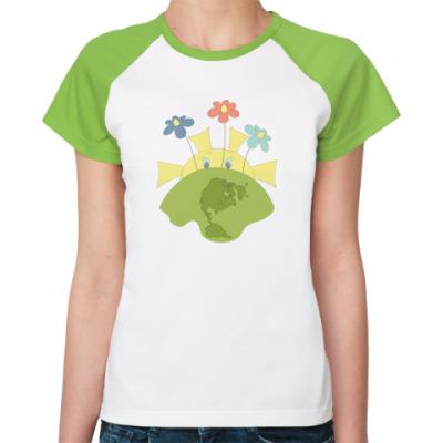 Женская футболка реглан 'Природа'