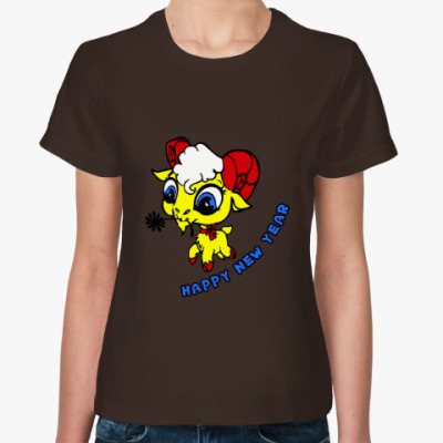 Женская футболка Год козы (овцы) 2015