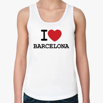 Женская майка I Love Barcelona