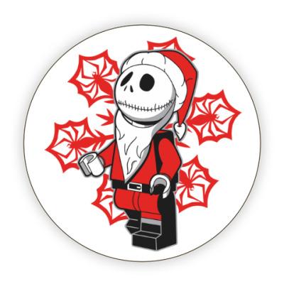Костер (подставка под кружку) Санта скелет