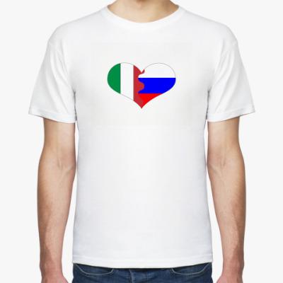 Футболка Россия - Италия
