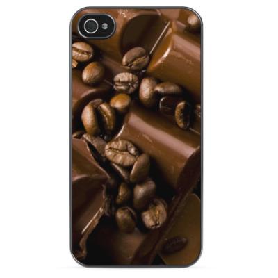 Чехол для iPhone Шоколад и кофе