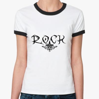 Женская футболка Ringer-T Rock