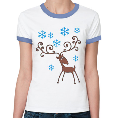 Женская футболка Ringer-T Олень