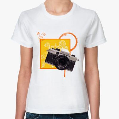 Классическая футболка фотоаппарат