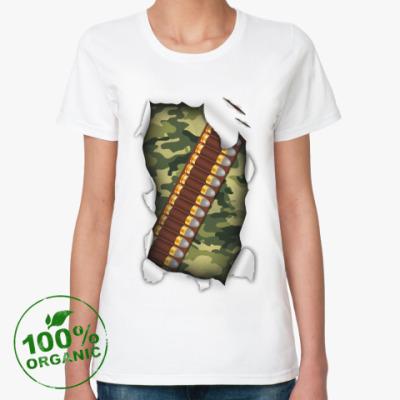 Женская футболка из органик-хлопка Патронташ