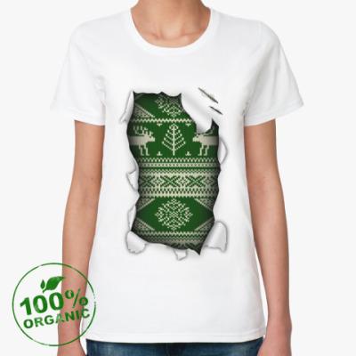 Женская футболка из органик-хлопка 'Свитер'