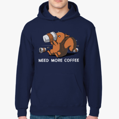 Толстовка худи Squirrel & caffeine