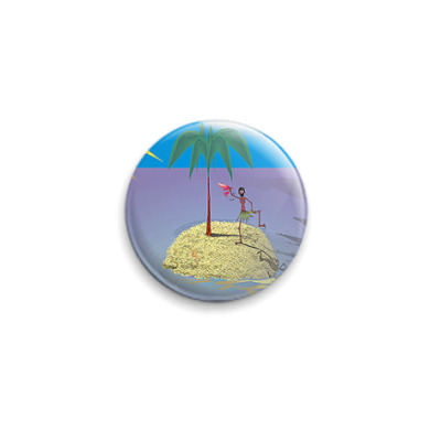 Значок 25мм Островок