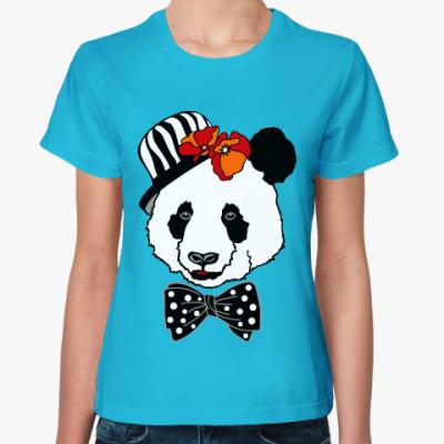 Женская футболка Панда с маками
