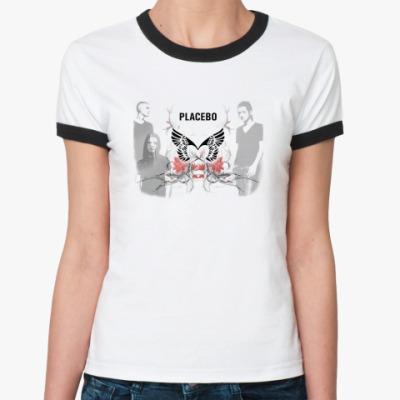 Женская футболка Ringer-T PLACEBO крылья