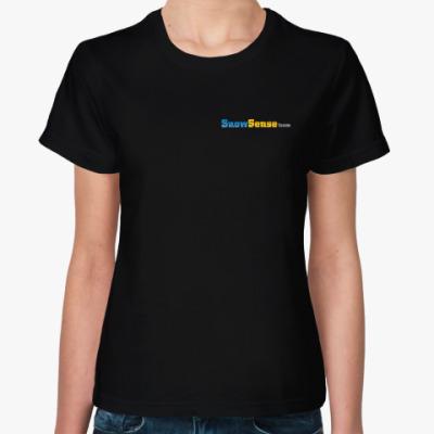 Женская футболка Женская футболка с лого (с двух сторон)