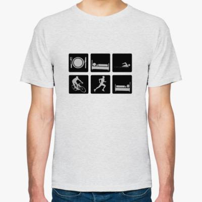 Футболка Мужская футболка Fruit of the Loom (светлый меланж)