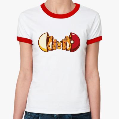 Женская футболка Ringer-T Покетрешка