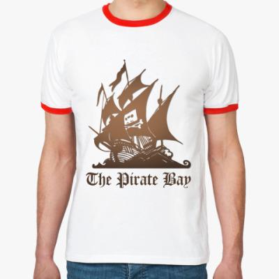 Футболка Ringer-T  пират the pirate bay