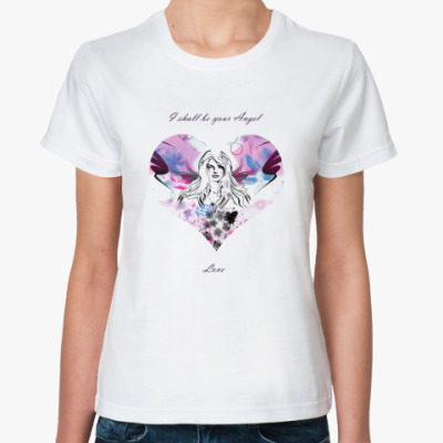 Классическая футболка I shall be your Angel