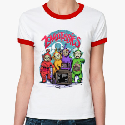 Женская футболка Ringer-T Зомбопузики