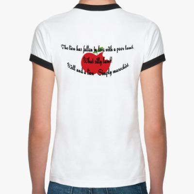 Женская футболка Ringer-T двухсторонняя майка