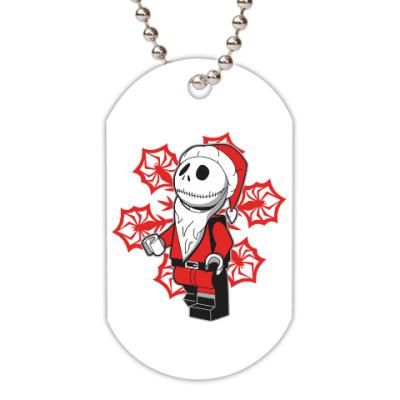 Жетон dog-tag Санта скелет