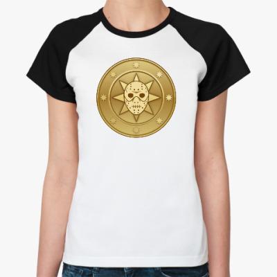 Женская футболка реглан Leprocoin