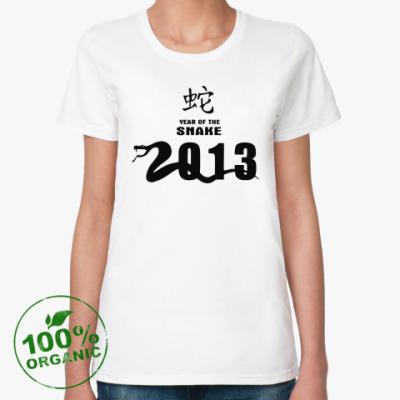 Женская футболка из органик-хлопка Year of the snake