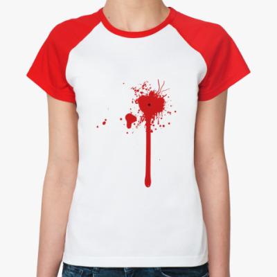 Женская футболка реглан Blood Splash