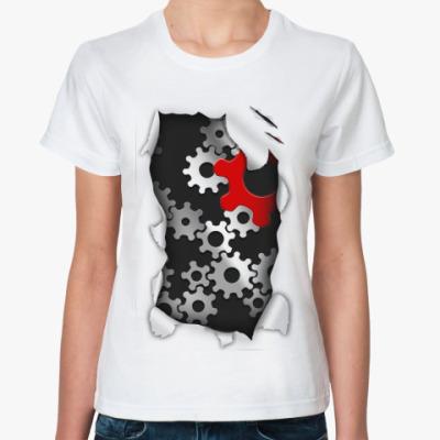Классическая футболка 'Шестерни'