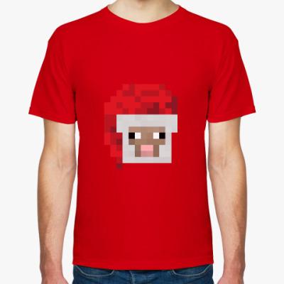 Футболка Новогодняя овечка из Minecraft
