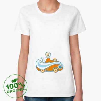 Женская футболка из органик-хлопка Апельсинка