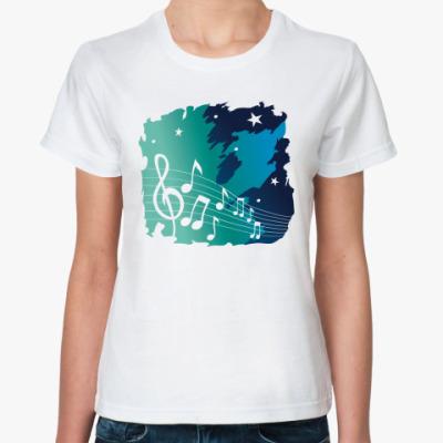 Классическая футболка Музыка