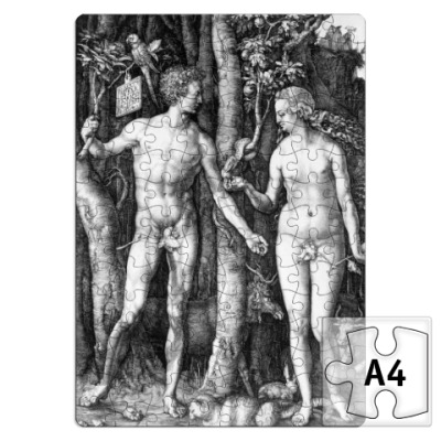 Пазл   ~ Адам и Ева Дюрера