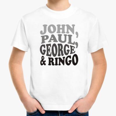 Детская футболка John.Paul.George&Ringo (детск)