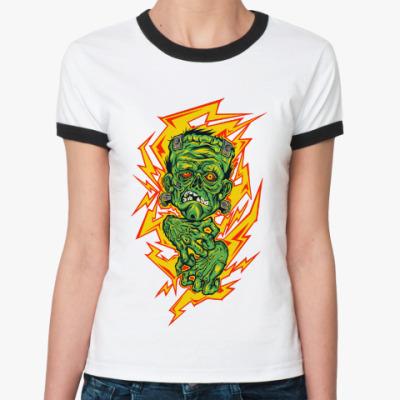 Женская футболка Ringer-T Franken