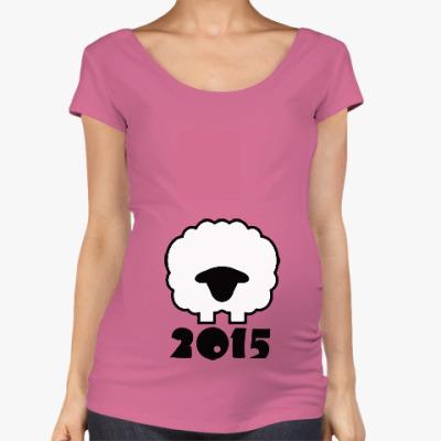 Футболка для беременных Год козы(овцы) 2015