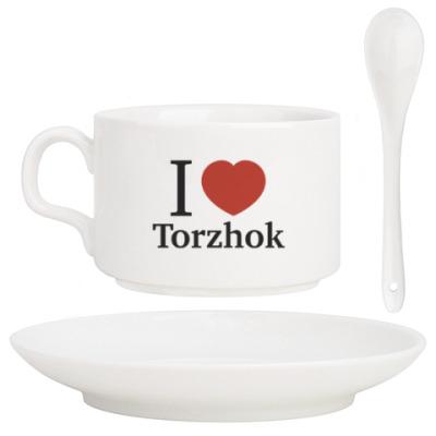 Кофейный набор Я люблю Торжок