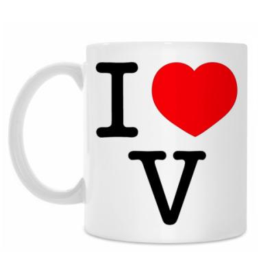 Кружка I love V