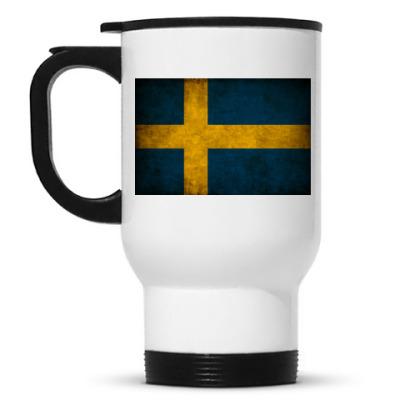 Кружка-термос 'Шведский флаг'