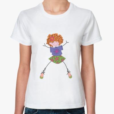 Классическая футболка Рыжая девочка