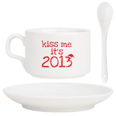 Кофейный набор Надпись Kiss me - it's 2013!