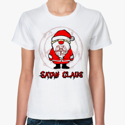 Классическая футболка Satan Claus