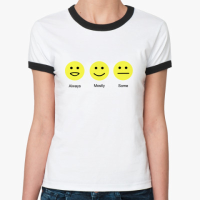 Женская футболка Ringer-T   Хаус Смайлы