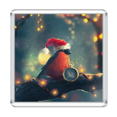 Магнит Christmas bullfinch