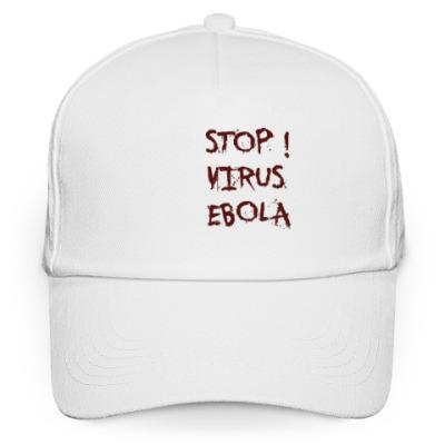 Кепка бейсболка Stop Virus Ebola