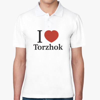 Рубашка поло Я люблю Торжок